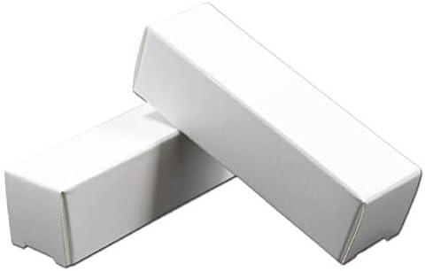 50 cajas de papel kraft para pintalabios de color blanco ...