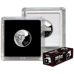 Nickle 2″ x 2″ Clear Plastic Snap Together Coin Display Slabs (Qty = 10 Slabs)