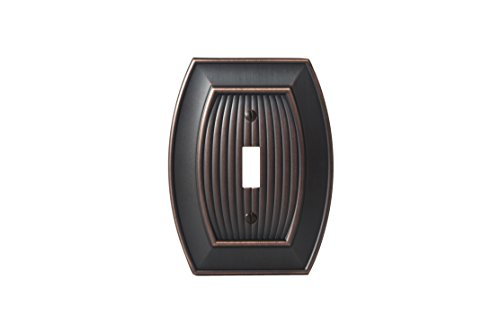 Amerock BP36528ORB Allison 1 Toggle Wall Plate - Oil-Rubbed (Dark Bronze Single)