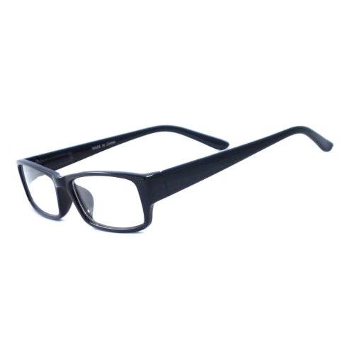 VINTAGE Style Designer Frame Clear Lens Eyeglasses - Rectangle Black Glasses
