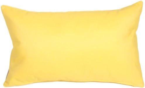 PILLOW D COR Sunbrella Outdoor Pillow 12 x19 , Buttercup Yellow