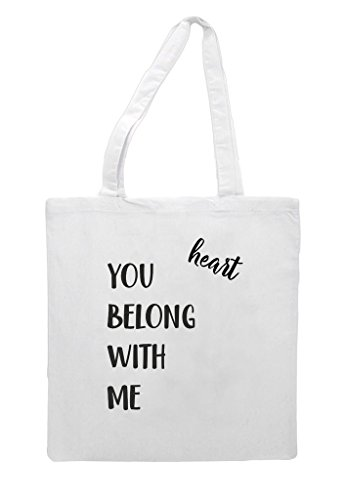 Shopper You Tote Bag Matching Me With White Sweetheart Wedding Engagement Gift Belong Party POarwP