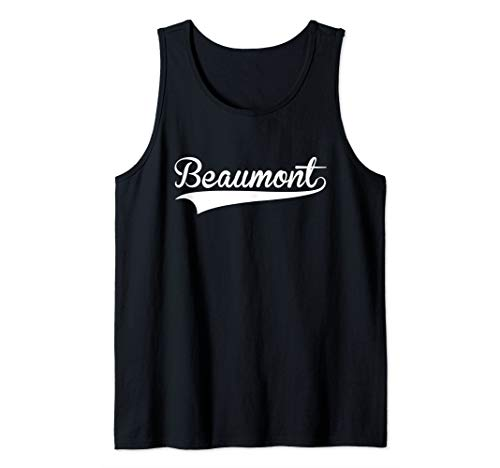 BEAUMONT Baseball Softball Styled Tank Top -