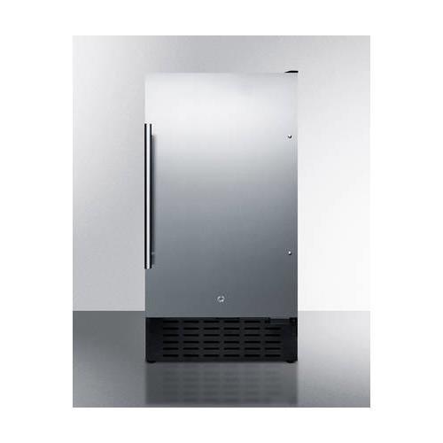 (Summit FF1843BSSADA Refrigerator, Stainless)