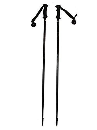 WSD Ski Poles Adult Downhill/Alpine Aluminum 7075 Strong Ski Poles Pair with Baskets Black/Gray New (125cm)