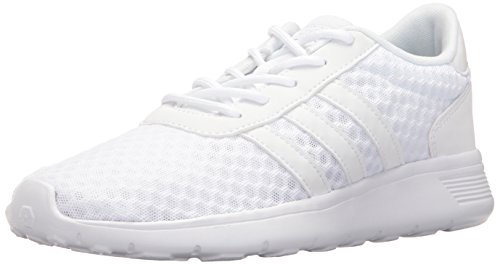adidas Performance Women's Lite Racer Running Shoe, White/White/Matte Silver, 11 M US