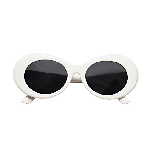 JUSLINK Bold Retro Oval Mod Thick Frame Sunglasses Round Lens Clout - For Lenses Glasses Thick Frames