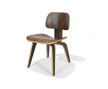 Amazon.com: Nicer Muebles Eames inspirado DCW moderna, silla ...