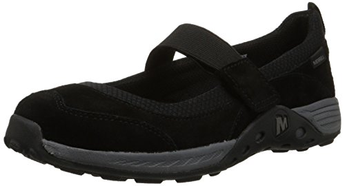 Merrell Jungle Moc Sport Mary Jane Flat (Little Kid/Big Kid),Black,5.5 W US Big Kid ()