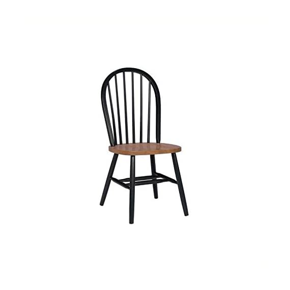 International Concepts 37-Inch High Spindle Back Chair, Black/Cherry - No assembly required Plain seat Rated for residential use only, not intended for commercial use - kitchen-dining-room-furniture, kitchen-dining-room, kitchen-dining-room-chairs - 31iBs 25fvL. SS570  -