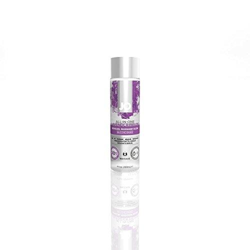 Full Body Sensual Massage - System Jo All in One SENSUAL Massage Oil Personal Lubricant Glide Sensual : Size 4 Fl Oz / 120 Ml.