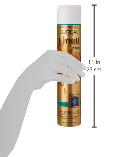 L'Oreal Paris Elnett Satin Hairspray, Extra Strong Hold, Unscented, 11 oz. (Packaging May Vary) by L'Oreal Paris (Image #4)