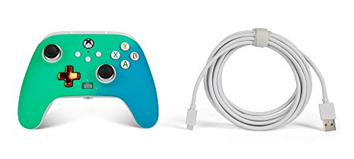 PowerA Enhanced Wired Controller for Xbox – Seafoam Fade, Gamepad, Wired Video Game Controller, Gaming Controller, Xbox Series X|S, Xbox One – Xbox Series X (Only at Amazon) 31iBtnsqYnL