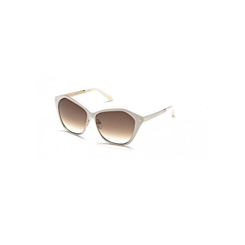 Tom Ford Sunglasses TF 391 Lena 25F White - Ford Women Sunglasses Tom