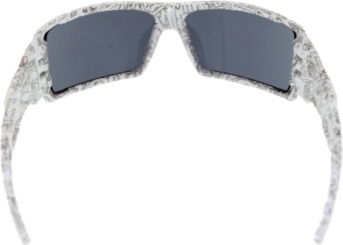 9d513bf72d6b Oakley Oil Rig Men s Lifestyle Sports Wear Sunglasses - White Text Print  Grey