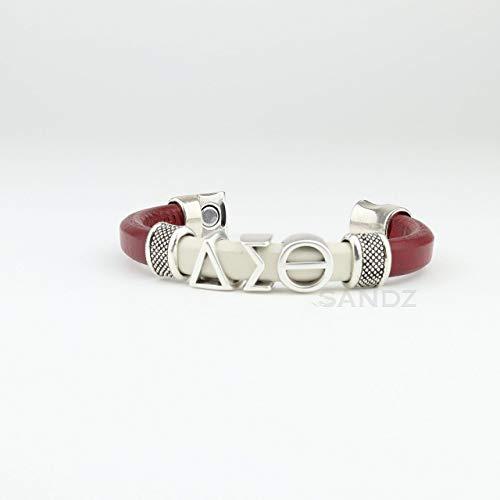 Delta Sigma Theta Leather bracelet -