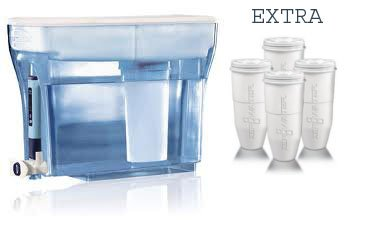 ZeroWater ZD-018 23-cup Water Filtration System Dispenser + Replacement Ooze 1-pack