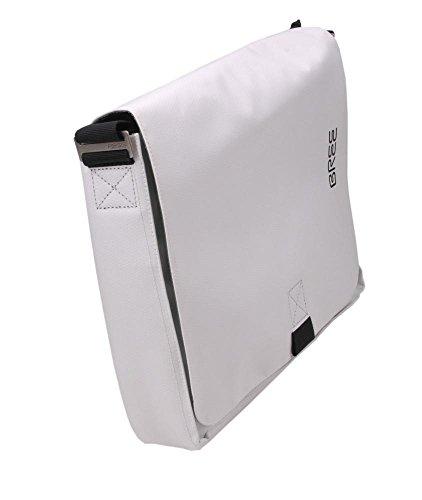 BREE Damen Punch 49 S16 Umhängetasche, Weiß (White/Black), One Size
