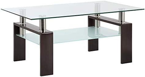 MIYACA Glass Coffee Table