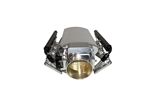 (A-Team Performance 102mm LS LS1 LS2 LS6 Intake Manifold Throttle Body Sheet Metal Fabricated Silver Compatible with Chevrolet GMC Pontiac)