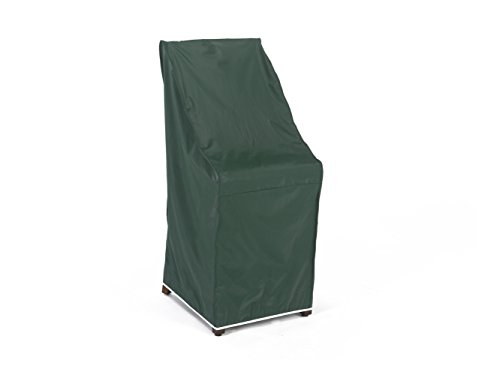CoverMates – Stacking Chair Cover – 28W x 34D x 52H – Classic Collection – 2 YR Warranty – Year Around Protection - Green (Outdoor Stacking Plastic Chairs)