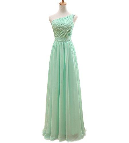 Buy light mint green bridesmaid dresses - 5