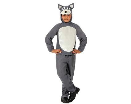 Atosa-10813 Disfraz Lobo, Color gris, 5 a 6 años (10813