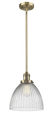 Innovations Lighting 201S-BB-G222 Pendleton - One Light Stem Mini Pendant, Brushed Brass Finish with Halophane Glass ()