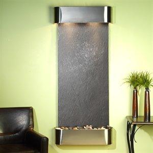 Adagio Inspiration Falls Wall Fountain Black FeatherStone