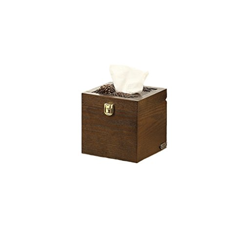 SPLY DTEM European creative office living room paper towel tube hotel wooden American paper towel barrel tissue box American forest style resin combined with wood workmanship