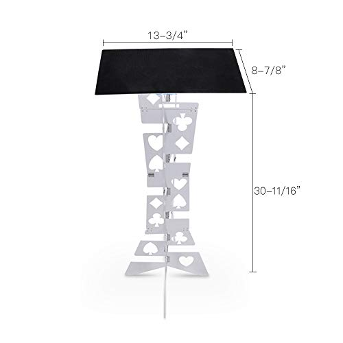 Doowops Aluminum Magic Folding Table (Alloy), Magician's Best Table, Stage, Close-up, Illusions, Accessories (Silver) by Doowops (Image #1)