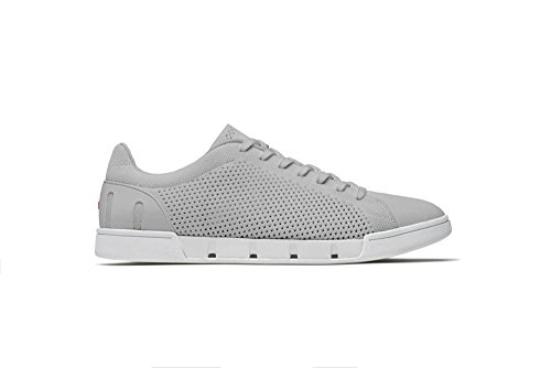 SWIMS Breeze Tennis Knit Sneakers In Light Gray/White, Size 10 by SWIMS