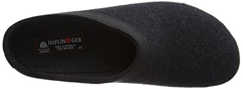 Haflinger Unisex Gzl In Pelle Con Finiture Grizzly Zoccolo Carboncino