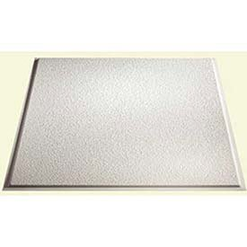 Genesis Easy Installation Stucco Pro Revealed Edge Lay-In White Ceiling Tile / Ceiling Panel, Carton of 12 (2' x 2' Tile)
