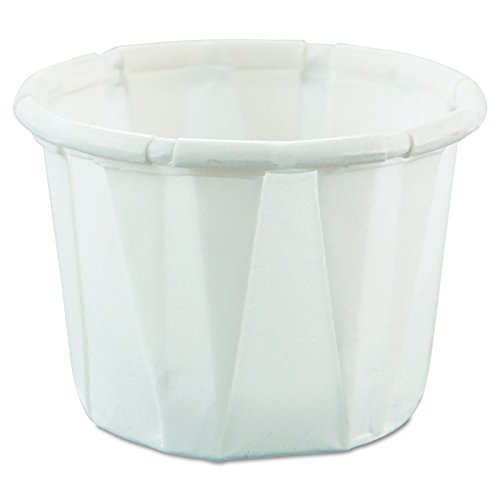 Solo 050-2050 0.5 oz Treated Paper Portion Cup (Case of 5000) (0.5 Paper Ounce)