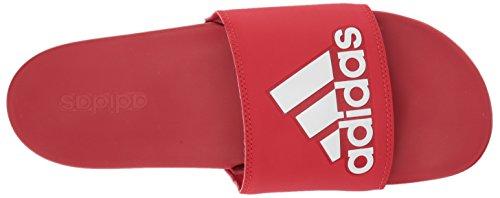 Uomo Adilette scarlet Adidas Scarlet white Logo Da Cf wIxUqSgZ