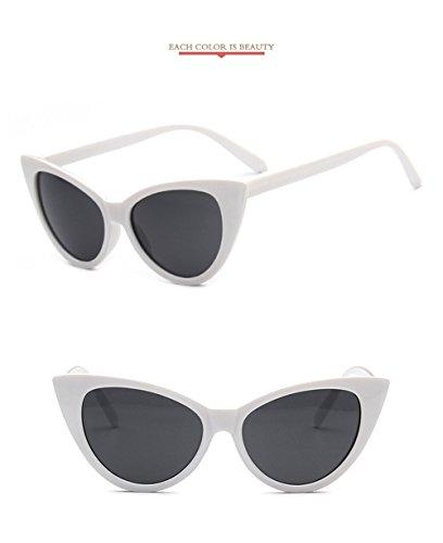 2018 Gafas de technolog Grande sol diseñador qbling Gafas espejo Moda gafas Nueva marca mujeres ojo de las Cateye de para Blanca de gato Vintage HIFdq5wdx