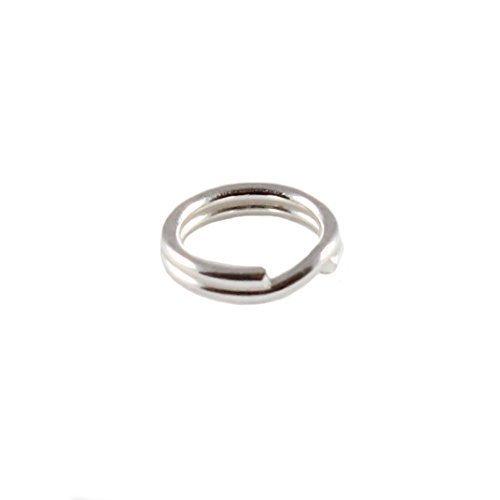 Ten (10) unidades de plata de ley 6 mm anillas de Llavero ...