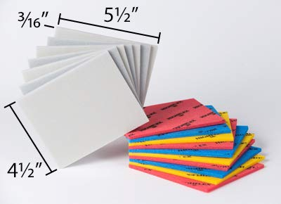 Stac Industrial 5-1/2'' x 4-1/2'' x 3/16'' 150 Grit Fine Gray Flat Pad - 150 Pieces Per Box by Stac Industrial (Image #1)