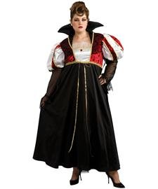 [Royal Vampira Costume - Plus Size - Dress Size Up to 18] (Masquerade Costume Plus Size)
