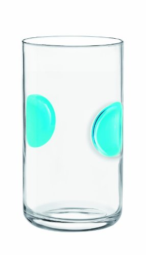 (Bormioli Rocco Giove Cooler Glasses, Blue, Set of 6)