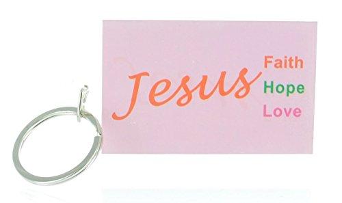 Jesus Keychain Faith Hope Love product image