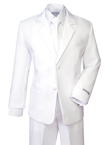 Spring Notion Boys' Formal White Dress Suit Set -