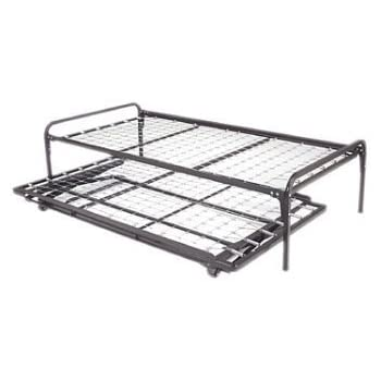twin size metal day bed daybed frame pop up trundle with great firm - Metal Twin Bed Frame