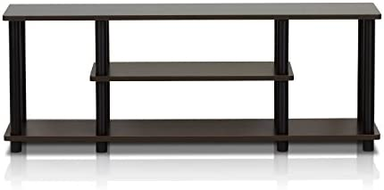 picture of Furinno Turn-N-Tube 3-Tier Entertainment TV Stands, Dark