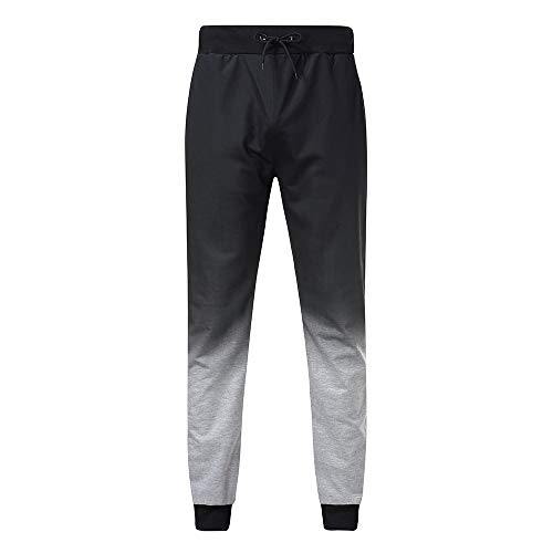 - Benficial Fashion Mens Casual Jogger Gradient Pants Sweatpants Drawstring Elastic Sports Trousers Gray