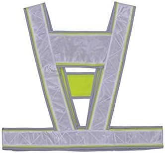 男性の安全ストラップベスト作業着作業服のための高視認性反射ベスト交通安全用ベストを警告 (色 : 白い)