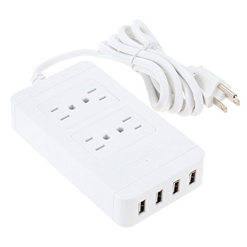 Iextreme 4 USB Port Power Supply Board Socket Charger - White by Iextreme (Image #1)