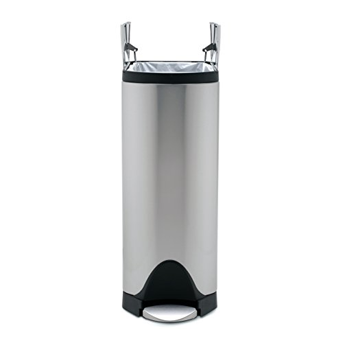 30 Gallon Kitchen Trash Can: Simplehuman 30 Liter / 8 Gallon Stainless Steel Butterfly