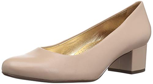 MARC JOSEPH NEW YORK Women's Leather Made in Brazil Classic Broad Street Pump, Nude Nappa, 9.5 B(M) US